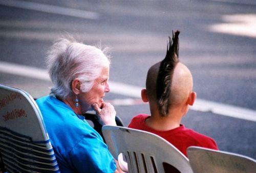 Бабушка и внук