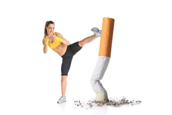 Спорт против курения