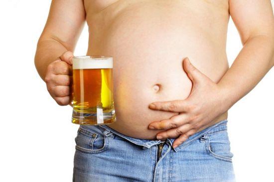 Пиво и большой живот